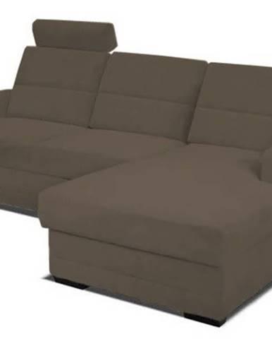 Rohová sedačka rozkládací nelson pravý roh úp hnědá