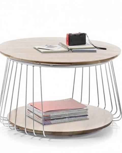 MC AKCENT Konfereční stolek - dřevěný konferenční stolek selvan - 70x42x70