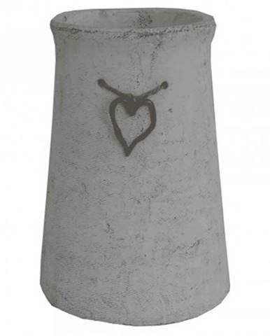 Cementová váza cv03 se srdíčkem