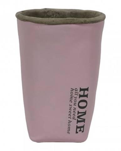 Cementová váza cv05 růžová