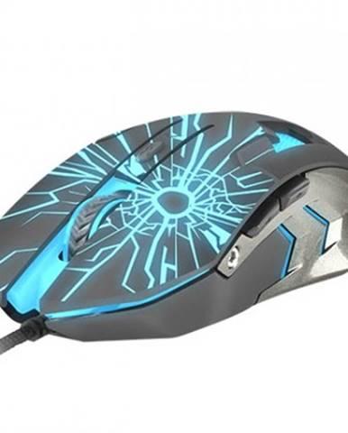 Drátové myši herní optická myš fury gladiator, 3200 dpi, černá