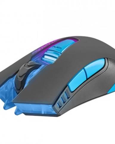 Drátové myši herní optická myš fury predator, 4800 dpi, černá
