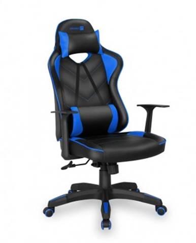 Herní křeslo connect it lemans pro černo-modré - cgc-0700-bl