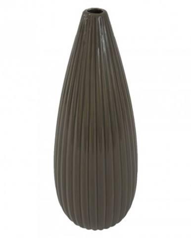 Keramická váza vk34 hnědá lesklá