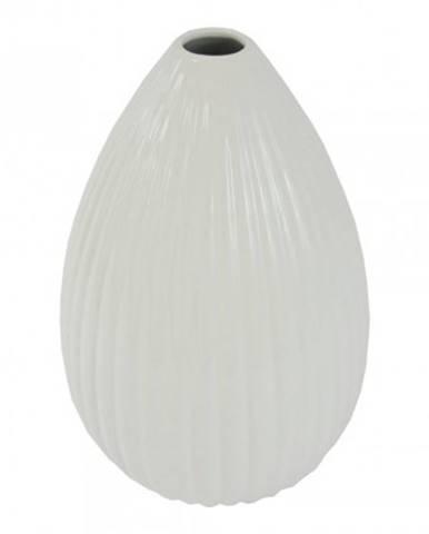 Keramická váza vk37 bílá lesklá