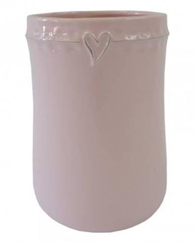 Keramická váza vk46 růžová se srdíčkem