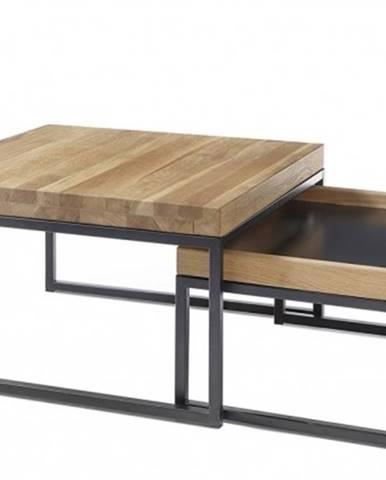 Konfereční stolek - dřevěný konferenční stolek dorset - set 2 kusů