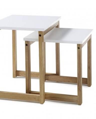 Konfereční stolek - dřevěný konferenční stolek juvena - set 2 kusů