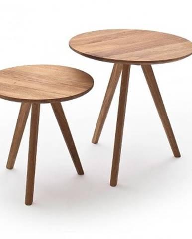 Konfereční stolek - dřevěný konferenční stolek olean - set 2 kusů
