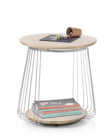 Konfereční stolek - dřevěný konferenční stolek selvan - 50x51x50