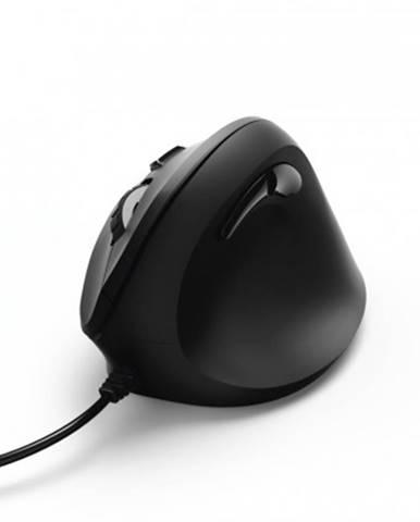 Drátové myši hama vertikální, ergonomická kabelová myš emc-500, černá