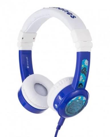 Sluchátka přes hlavu buddyphones inflight modrá