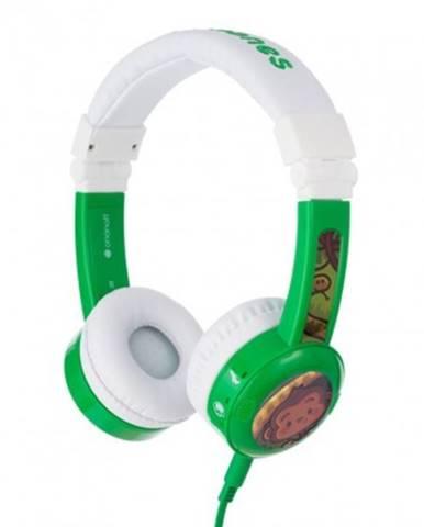 Sluchátka přes hlavu buddyphones inflight zelená