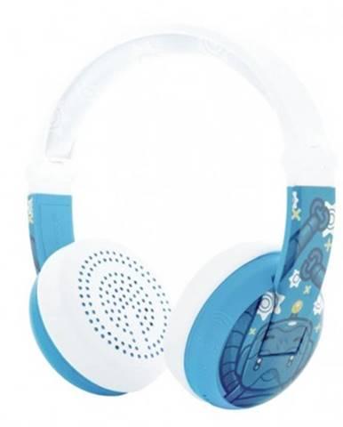 Sluchátka přes hlavu buddyphones wave robot modrá