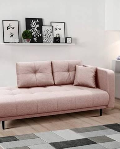 Lenoška bony s úložným prostorem, pravá strana, růžová