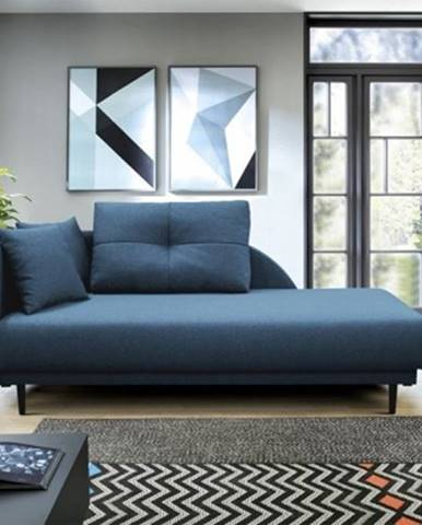 Lenoška ize s úložným prostorem, levá strana, modrá