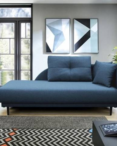 Leňoška ize s úložným prostorem, pravá strana, modrá