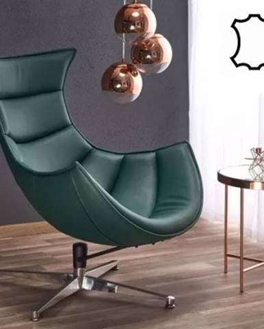 Samostatné křeslo kožené křeslo luxor zelená