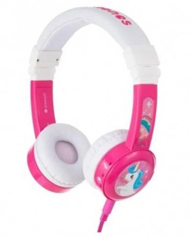 Sluchátka přes hlavu buddyphones inflight růžová
