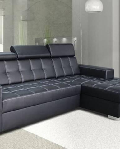 Rohová sedačka rozkládací belfast ii pravý roh úp černá