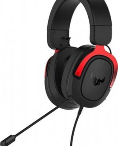 Sluchátka přes hlavu headset asus tuf gaming h3, červený