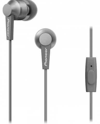 Špuntová sluchátka pioneer se-c3t-h sluchátka / šedá