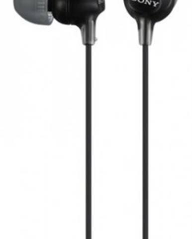 Špuntová sluchátka sony mdr-ex15lp, černá