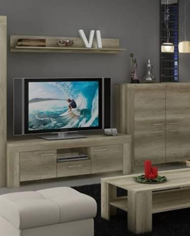 Sky - obývací stěna, komoda, rtv stolek, stolek