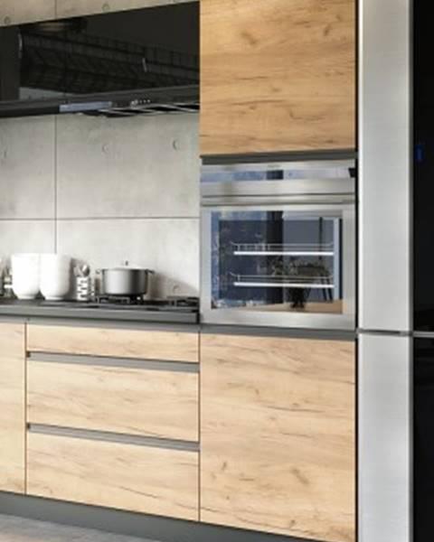 Euromebel Styl Rohová vysoká skříňka na vestavnou troubu ke kuchyni brick
