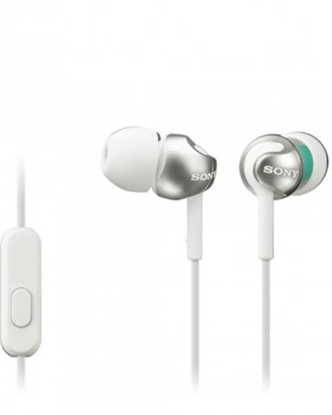 Sony Špuntová sluchátka sony sluchátka mdr-ex110ap bílá