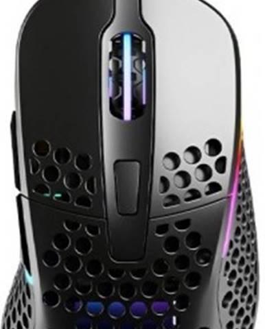 Drátové myši herní myš xtrfy m4 rgb, 16 000 dpi, černá