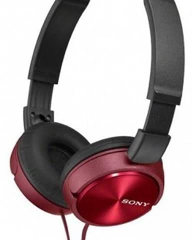 Sluchátka přes hlavu sony mdr-zx310, červená