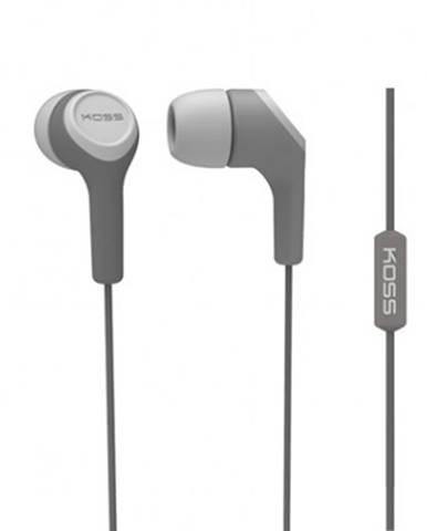 Špuntová sluchátka koss keb15i grey