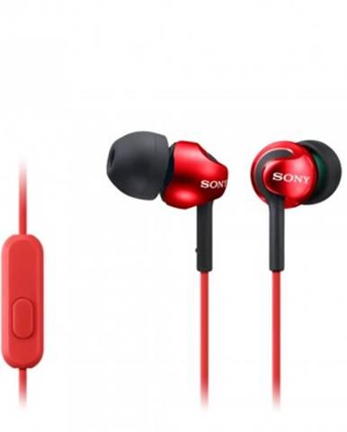Špuntová sluchátka sony sluchátka mdr-ex110ap červená