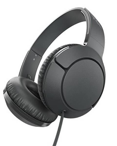 TCL Sluchátka přes hlavu tcl mtro200bk sluchátka náhlavní, drátová, mikrofon, černá