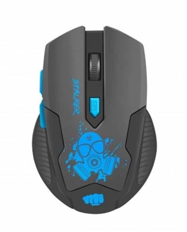 Bezdrátové myši herní optická myš fury stalker 2000dpi modro-černá