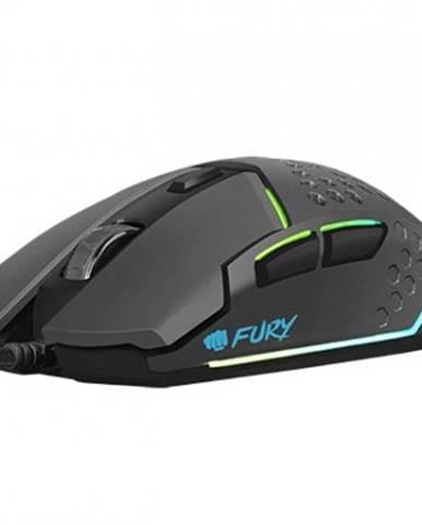 Drátové myši herní optická myš fury battler 6400dpi, černá