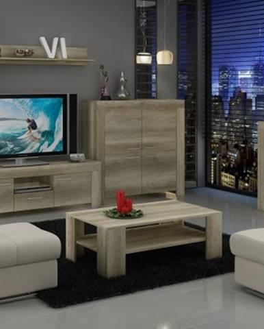 Sky - obývací stěna, 2x komoda, rtv stolek, stolek