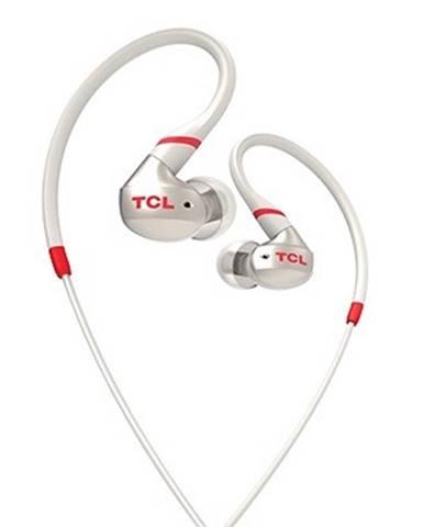 Špuntová sluchátka tcl actv100wt sportovní sluchátka do uší, drátová, mikrofon,bílá