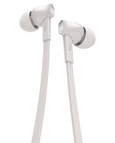 Špuntová sluchátka tcl mtro100wt sluchátka do uší, drátová, mikrofon, bílá