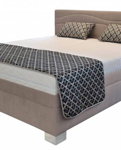 čalouněná postel windsor 200x200, vč. poloh. roštu, matrace a úp