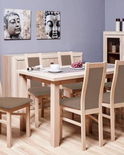 Firma Produkcyno CARGO Jídelní set jídelní set agáta - 6x židle, 1x rozkládací stůl