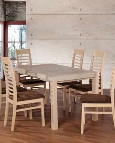 Jídelní set set 17 - 6x židle,1x stůl,rozklad