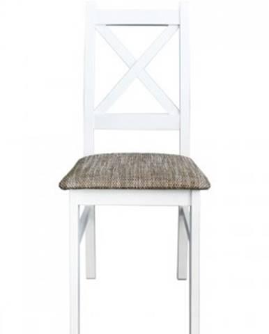 Jídelní židle jídelní židle kasper bílá, šedá