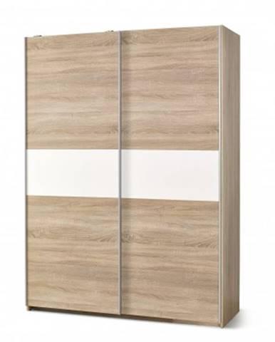 Posuvná šatní skříň lima - s posuvnými dveřmi