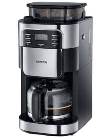 Překapaváč kávy kávovar severin ka4810, nerez/černá, s kávomlýnkem