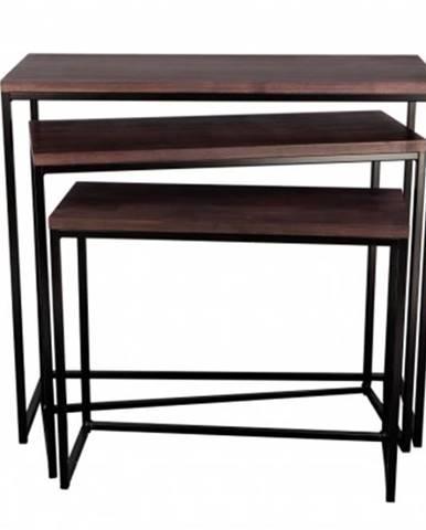 Konfereční stolek - dřevěný konferenční stolek giewont - set 3 kusů