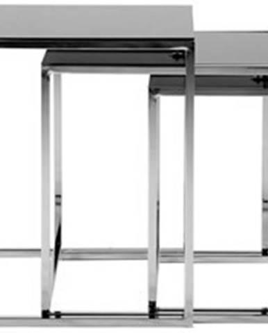 Odkládací stolek konferenční stolek cross - set 3 kusů