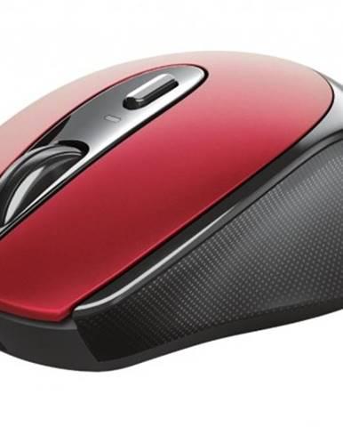 Bezdrátové myši bezdrátová myš trust zaya, červená, dobíjecí