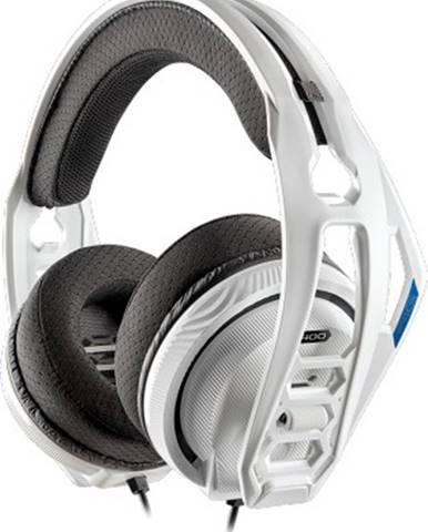 Sluchátka přes hlavu headset plantronics rig 400hs, pro ps5, ps4, bílá